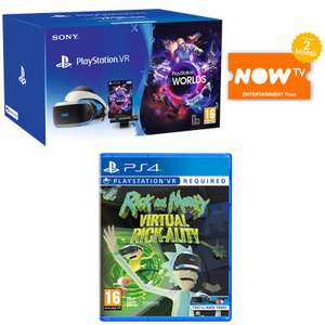 PSVR Starter Pack V2 + Rick and Morty + Now TV 2 month Entertainment Pass £193.99 delivered @ Game (Swap for Mega Pack V2 for £233.99)