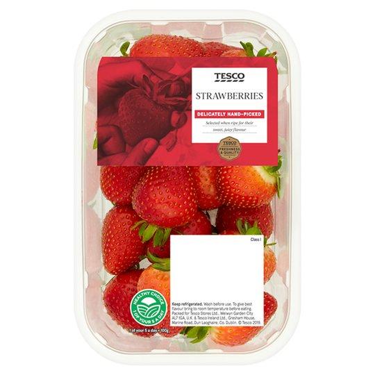 Tesco Strawberries 400G & Tesco Finest Strawberries 300G 2 for £3 at Tesco (works out £3.75/kg)