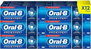Oral-B Pro-Expert Toothpaste Deep Clean - 12 x 75ml for £22.80 @ Amazon