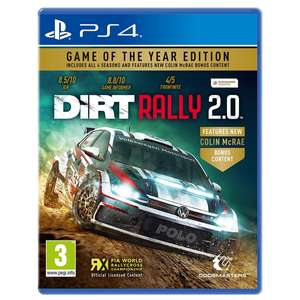 DiRT Rally Game Of The Year Edition (PS4/ XBox One) £19.99 Delivered @ Smyths Toys