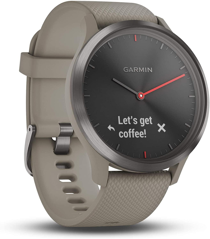 Garmin vivomove HR Hybrid Smart Watch (Small/Medium) - Black with Sandstone Band £119.99 at Amazon