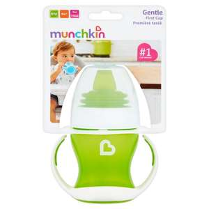 Munchkin Gentle Transition Trainer Cup 4M+, 4oz/118 ml for £1.75 or Tommee Tippee Closer To Nature Soother 6-18M (2-pack) for £1 @ Morrisons