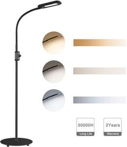 AUKEY LED 8W dimmable floor lamp with three colour temperatures for £36.79 delivered (using voucher) @ Lucient EU fulfilled by Amazon