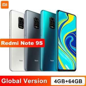 Xiaomi Redmi Note 9S 4GB 64GB Global Version smartphone Snapdragon 720G Octa core 5020 mAh 48MP Quad Camera £136 with code at DHgate