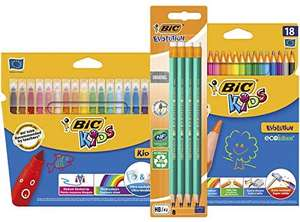 BIC Evolution Original Graphite Pencils, BIC Kids Couleur Felt Pens, BIC Kids Colouring Pencils (44 Pack) £8.99 Prime / £13.49 NP at Amazon