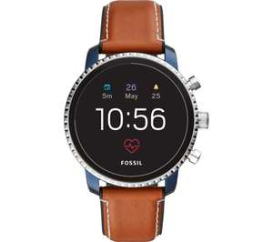 FOSSIL Explorist HR FTW4016 Smartwatch - Blue & Silver, Leather Strap - £119 delivered from Currys PC World