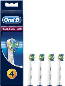 Oral-B Genuine Floss Action Replacement White Toothbrush Heads, Pack of 4 - £9.48 (£8.06 S&S) (+£4.49 Non Prime) at Amazon