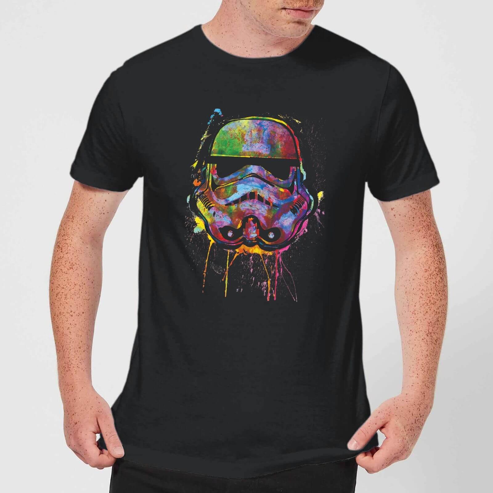 Star Wars Paint Splat Stormtrooper (Men's or Women's) T-Shirt - Black - £8.99 delivered (With Code) at Zavvi