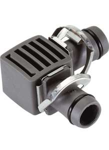 """GARDENA Micro-Drip System L-Joint 13 mm (1/2""""): Pipe connector for Supply Pipe (Art. No 1347, 1346) - £1.99 (+£4.49 NP) @ Amazon"""