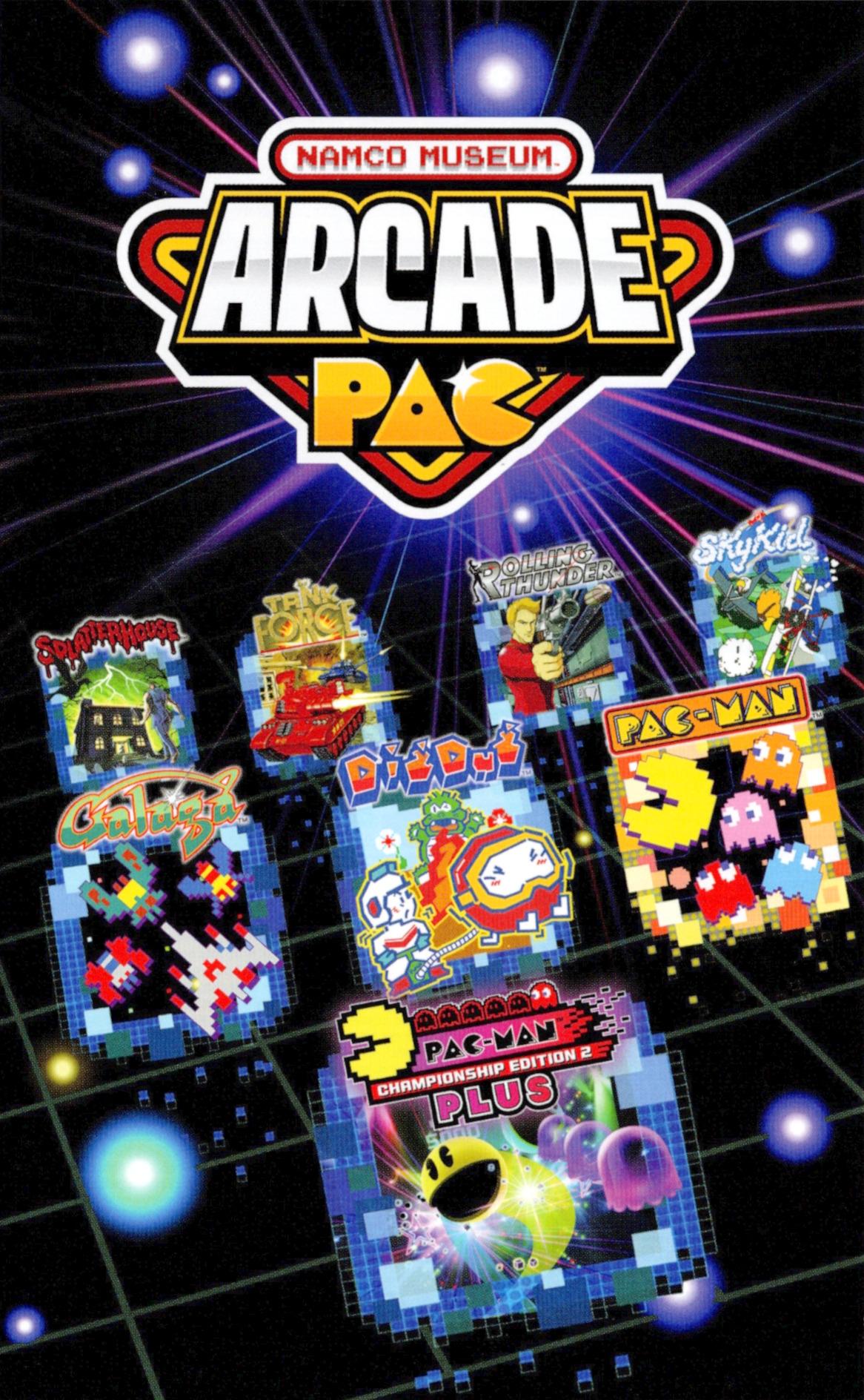 Namco Museum - £9.99 / Namco Museum Arcade Pac - £12.20 digital download version on Nintendo eShop