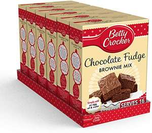 Betty Crocker Chocolate Fudge Brownie Cake Mix 415g (Pack of 6) £11.92 prime / £16.41 nonPrime at Amazon