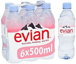 Evian mineral water 6 x 500ml £1 @ Amazon Pantry (£15 min spend.£3.99 delivery or free with 4 eligible items)