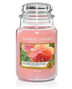 Yankee Candle - 'Sun-Drenched Apricot Rose' Large Pink Floral Scented Jar Candle - £12 + free delivery using code @ Debenhams