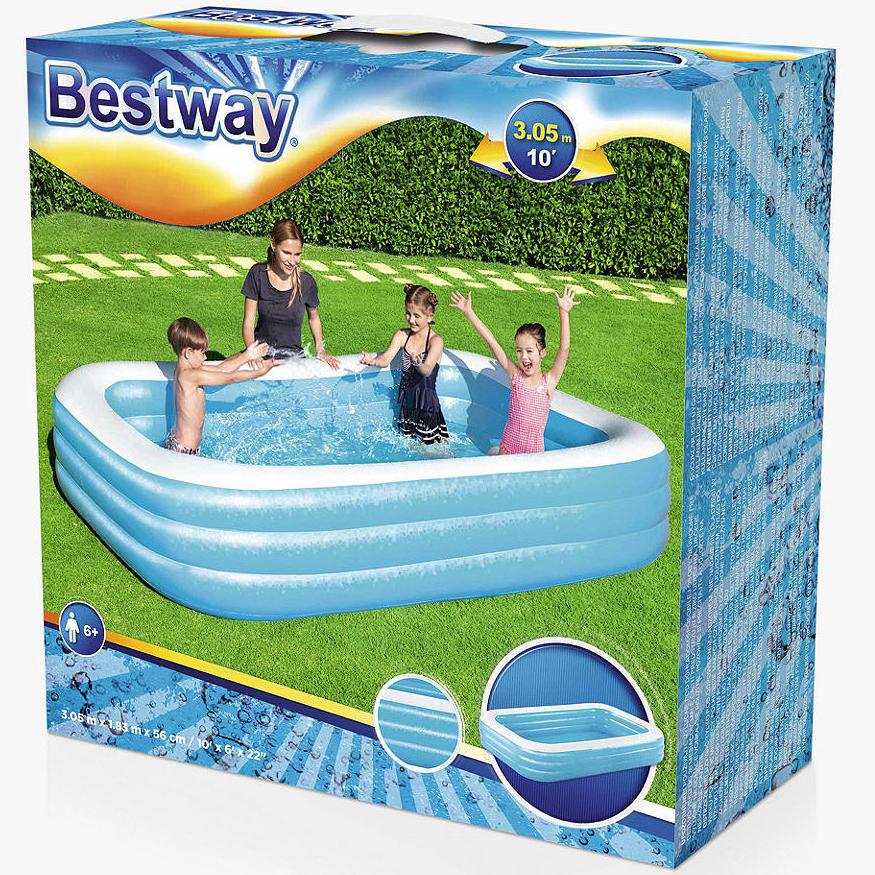 Bestway 10ft rectangular Family Inflatable Paddling Pool £39.99 + £3.50 del @ John Lewis & partners