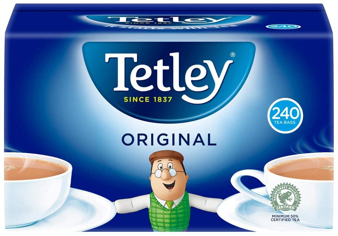 Tetley Original 240 Tea Bags, 750g - £3 / £2.55 S&S Prime / +£4.49 non Prime @ Amazon