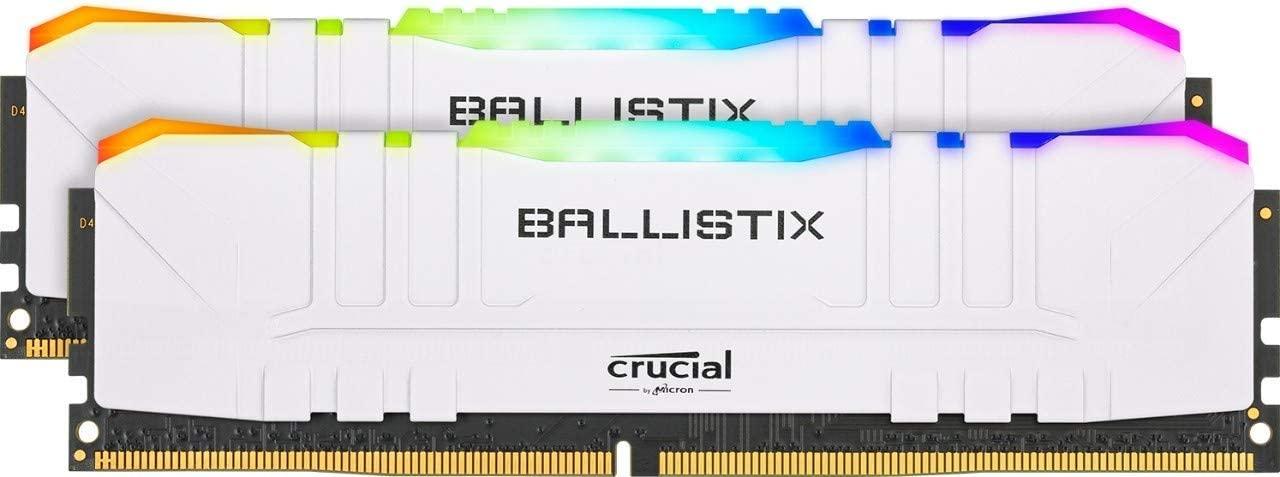 Crucial Ballistix RGB 3600MHz, DDR4, 16GB (8GB x2), CL16, White - £89.99 @ Amazon