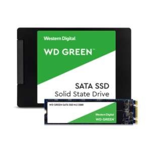 """WD Green 480 GB Internal SSD 2.5"""" SATA/M.2 SATA, £49.99 each delivered at Western Digital Shop with code"""
