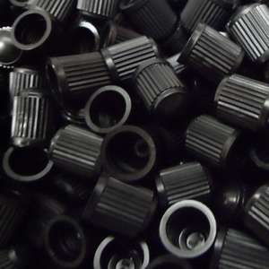 100 x Black Plastic Replacement Dust Caps/Stems for Cars, Bikes - £1.40 delivered at chw1951/ebay