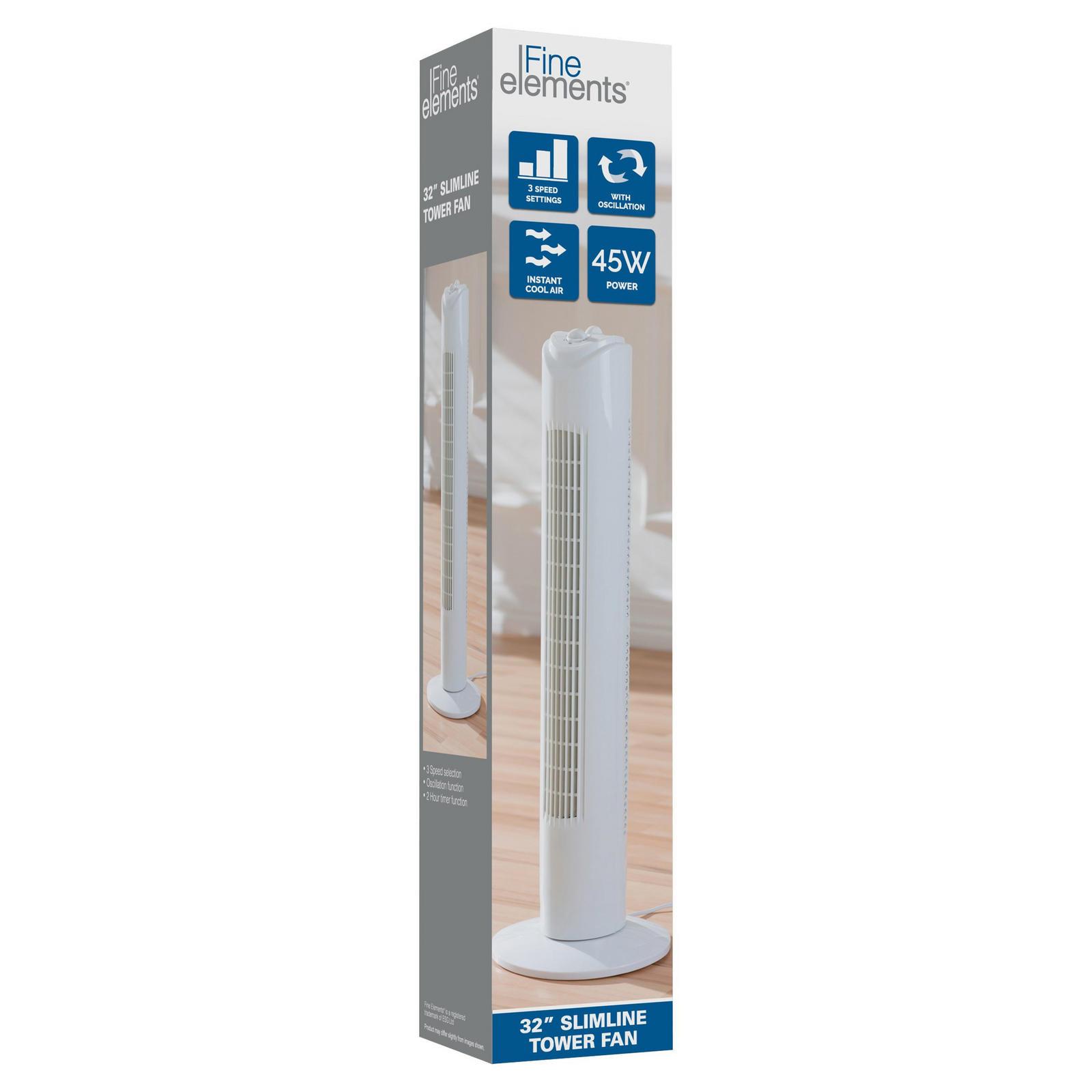 """Fine Elements 32"""" Slimeline Tower Fan £19.99 @ The food Warehouse Mold, Flintshire"""