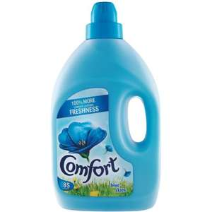 4x 3L 85 washes Comfort fabric conditioner Blue Skies/Pure £10 @ Farmfoods