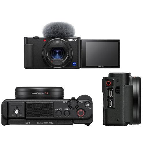 NEW Sony ZV-1 Vlogging Camera with Sony GP-VPT2BT grip + free desktop tripod - £779 Clifton cameras