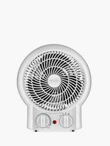John Lewis & Partners Hot and Cool Mini Fan and Heater, White -£15 + delivery £3.50