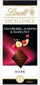 Lindt Excellence Dark Cranberry, Almond and Hazelnut Chocolate Bar - 100 g £1 + £4.49 NP @ Amazon
