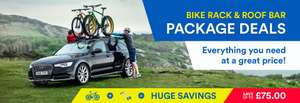 Package deals on Bike racks when bought with Roof bars @ Roofbox