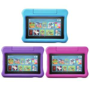 "Amazon Fire 7 Kids Edition Tablet | 7"" Display, 16 GB, Blue / Pink / Purple Kid-Proof Case for £64.39 delivered @ Currys eBay"