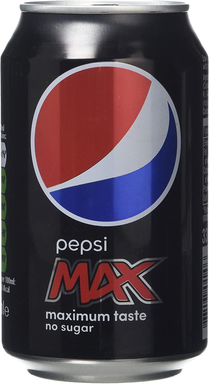 Pepsi Max Cola Can 330 ml (Pack of 24) - £6.50 Prime/£10.99 Non Prime @ Amazon