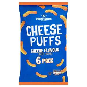 Morrisons Cheese Puffs 6 Pack 40p @ Morrisons