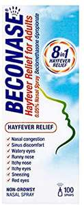 Beconase Hayfever Relief Nasal Spray - 100 Sprays £2.99 (Prime) / £7.48 (non Prime) at Amazon