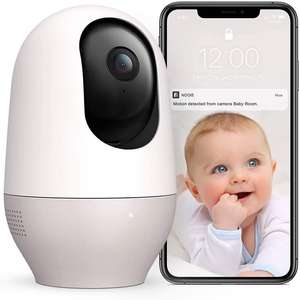 Nooie Baby Monitor, 1080P Security Camera with Motion Tracking - £25.49 / Sold by YMOU and Fulfilled by Amazon