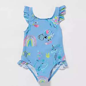 Up to 50% off Children's swimWear bluezoo Girls' Pale Blue Seahorse Swimsuit From £5 Sun hat £3.50 + Free Delivery W/code @ Debenhams