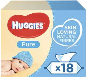 Huggies Baby Wipes, Pure, 18 Packs (1008 Wipes Total) £10.50 Amazon Prime / £14.99 Non Prime