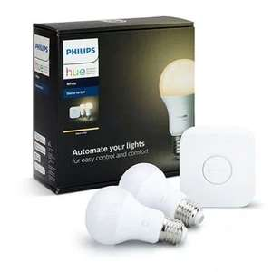 Philips Hue Starter Kit 2x Smart Bulb E27 Edison Screw White with Hue Bridge V2 £47.99 Delivered @ Scan
