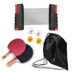 Table tennis set with two paddles, four balls and a retractable net for £19.88 delivered @ AliExpress / Jeebel Camp Official Store