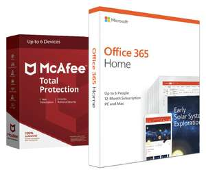Microsoft Office 365 (Now Microsoft 365) Home & McAfee 6 Devices 1 Year - £43.94 delivered at Argos