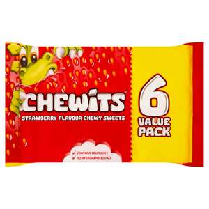 Chewits Strawberry - 6x30g Packs for £1 @ Iceland