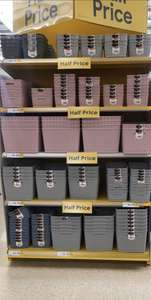 Get 50% off these Curver Storage Boxes from small£1.75/ large £2.75 @ Tesco Glasgow
