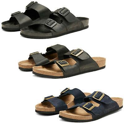 Jack & Jones mens leather sandals with double adjustable straps for £29.95 delivered @ eBay / shoeshoebedo