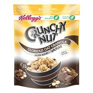 5 x 55g Packs of Kellogg's Crunchy Hazlenut and Chocolate Granola (275g) £1 at Heron Foods Abbey Hulton