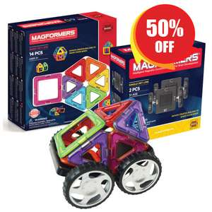 Magformers 14pc Set + House £19.99 / Minibot Set £22.49 / Magnetic Construction Toy £22.50/Double Set Bundle £19.99 + £4.99 P&P @ Magformers