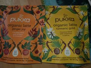 Pukka organic latte herbal drink 20p Sainsburys (Oldham)