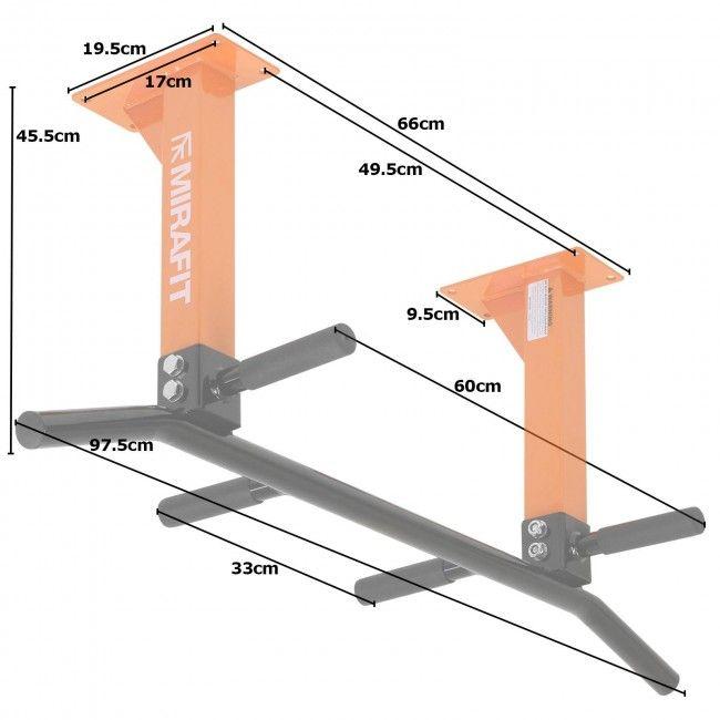 Mirafit M1 3 Position Ceiling Pull Up Bar - Orange £49.90 @ Mirafit
