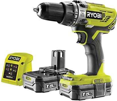 Ryobi R18PD3-215GZ 18 V ONE+ Cordless Combi Drill Starter Kit (2 x 1.5 Ah) - £74.99 @ Amazon