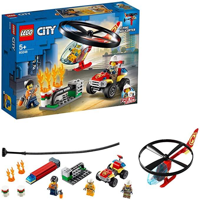 LEGO City 60248 Fire Helicopter Response with ATV Quad Bike £13.50 (Prime) + £4.49 (non Prime) at Amazon