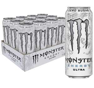 Monster Energy Ultra 12 x 500ml Cans - £10.47 (Prime Exclusive) @ Amazon - Min Order £15