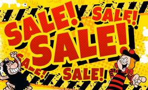 BEANO Sale - 4 x Code Stack - Free Delivery Over £15 - Works on top of Sale Clothing, Toys, Stationery etc.,