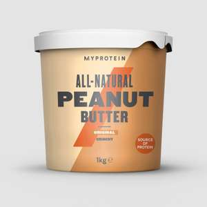 1kg All-Natural Peanut Butter (Crunchy or Smooth) £3.56 delivered (+ Free 50ml Hand Gel) @ MyProtein